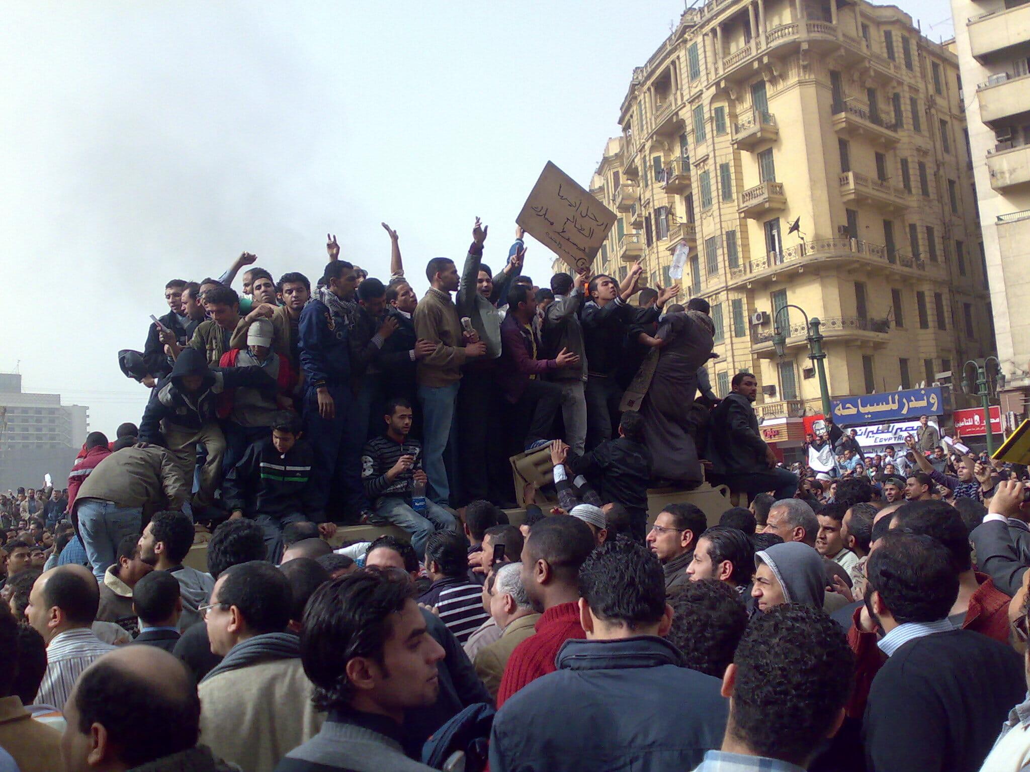 Tidslinje over oprøret i Egypten