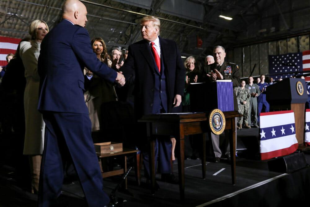 Præsident Trump har oprettet ny rumstyrke