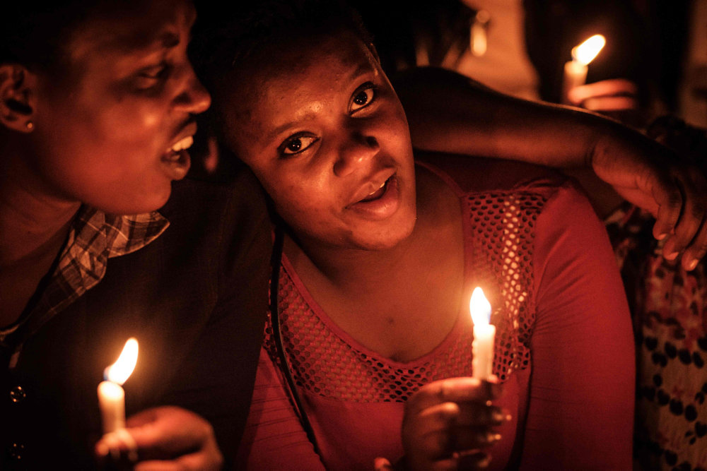 Tusinder samlede sig ved 25-års markeringen for folkedrabet i Rwanda