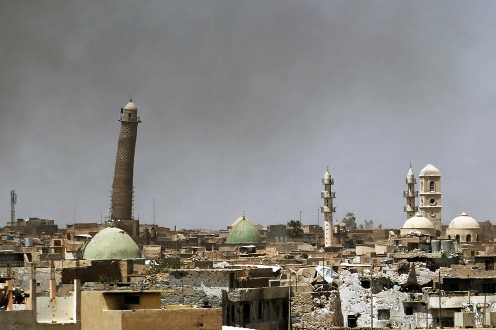 Read more about the article Iraks hær: Islamisk Stat har sprængt ikonisk Mosul-moské i luften