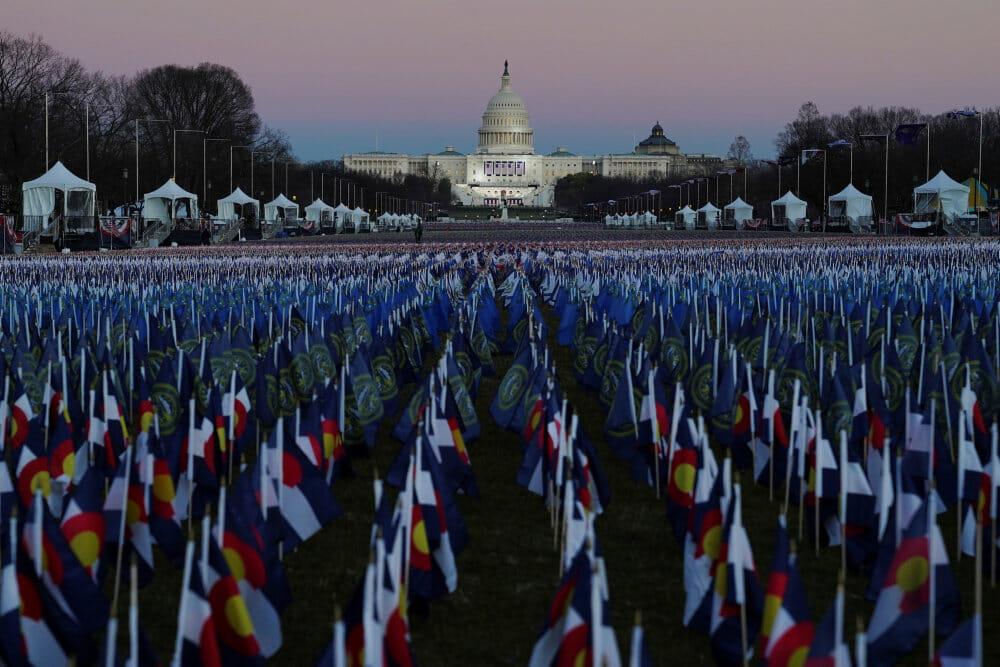 I dag indsættes Joe Biden som USA's 46. præsident foran 200.0000 flag