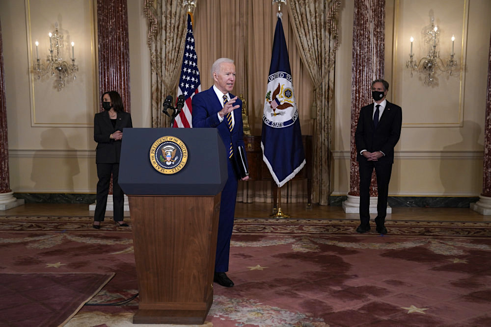 Biden udstikker nye linjer i USA's udenrigspolitik efter Trump